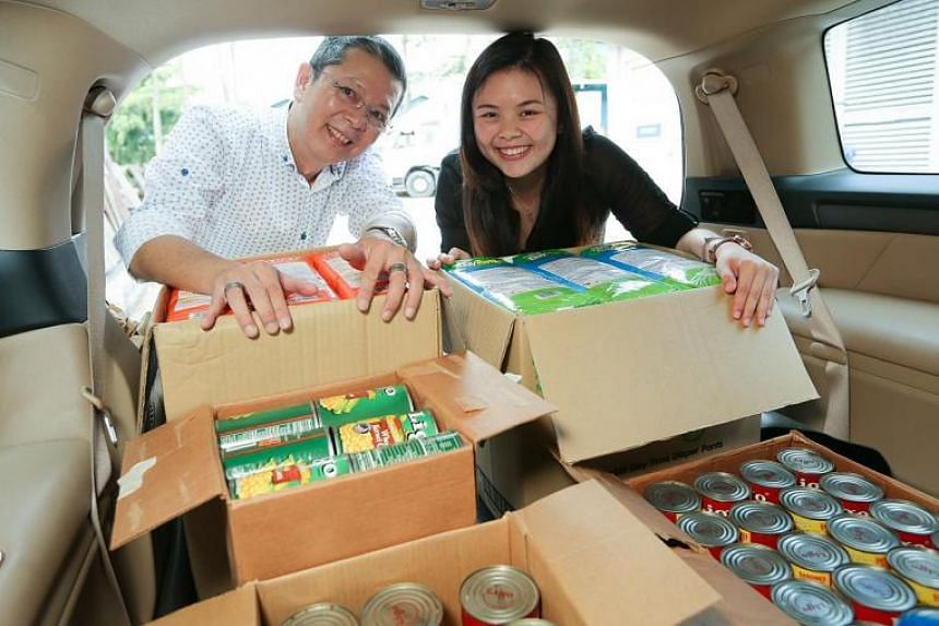 Ms Desiree Yang and her father Roland Yang set up Saltsteps, a social supermarket that sells goods rejected by regular supermarkets.