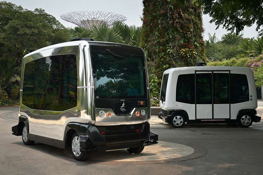 Auto Riders will take visitors around the grounds of Gardens by the Bay from as early as December. They can each carry 10 people and are wheelchairaccessible.