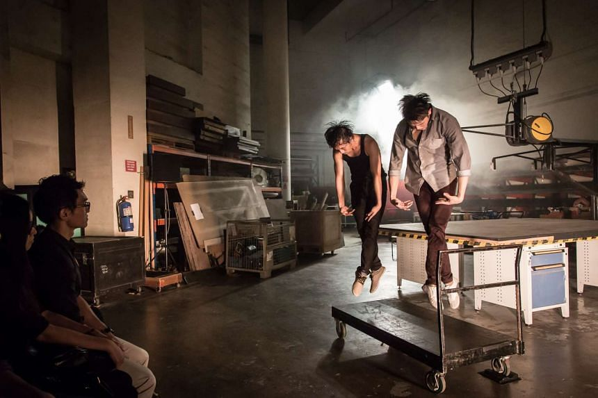 In Impulse, T.H.E Dance Company's dancers transform the Esplanade's gritty backstage area into their playground.