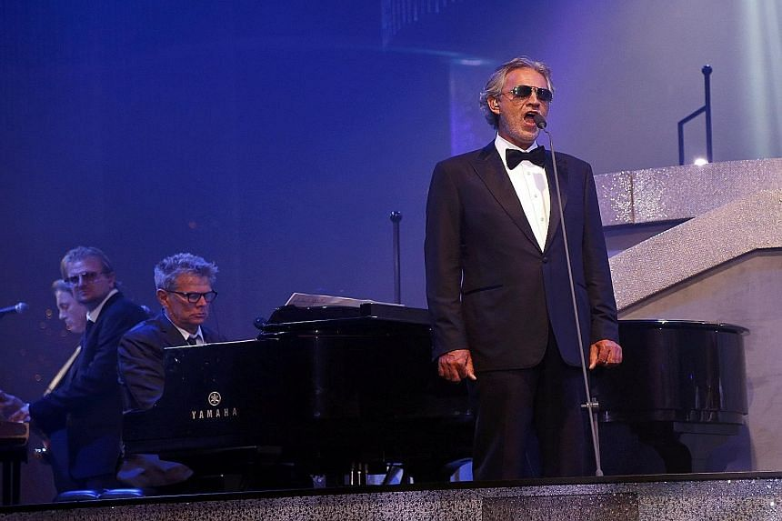 Andrea Bocelli (above) sings a song from Once Upon A Time In America (1984) with Ariana Grande.