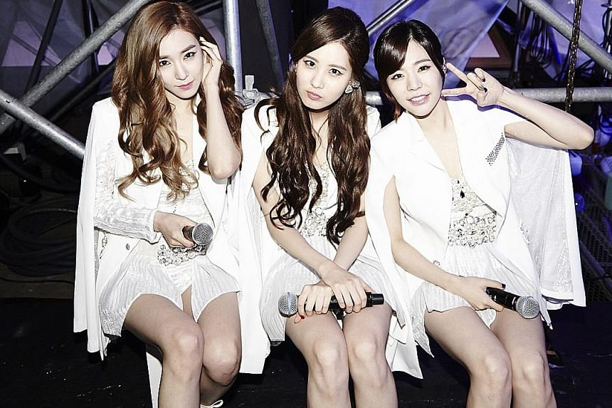 The documentary features SM artistes including Girls' Generation's (from far left) Tiffany, Seohyun and Sunny.