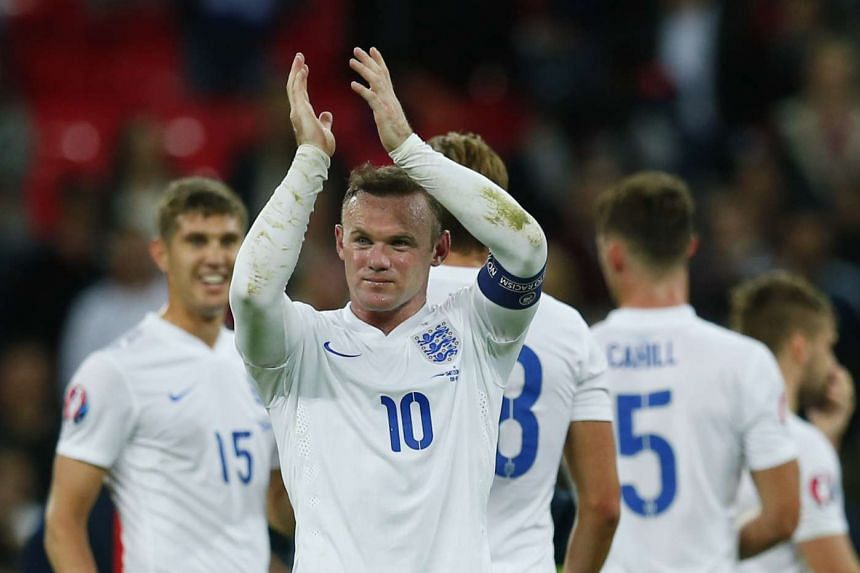 England's Wayne Rooney applauds the fans at the end of a Euro 2016 match.