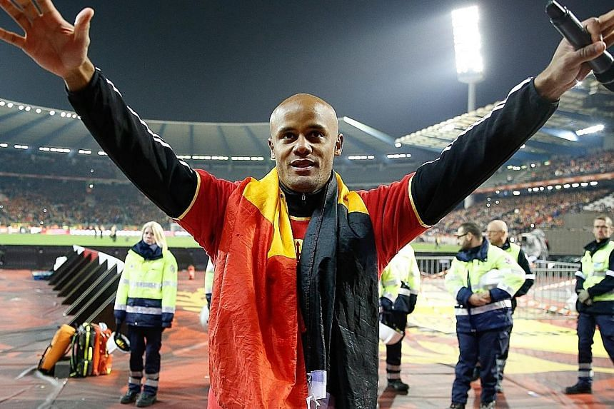 Vincent Kompany is happy that Belgium have risen to the top of Fifa's world rankings. They were No. 71 in 2007.