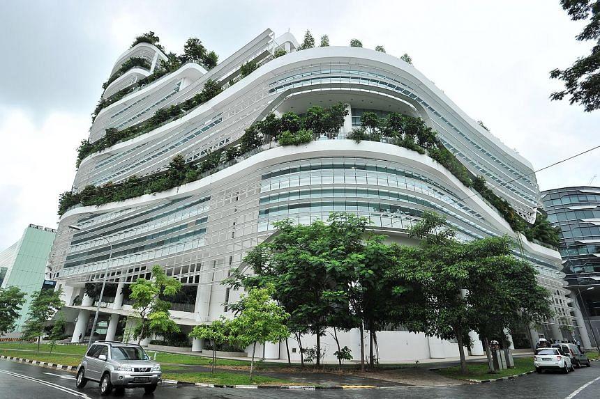 Soilbuild Business Space Reit's portfolio includes the Solaris (above), a business park development at one-north.