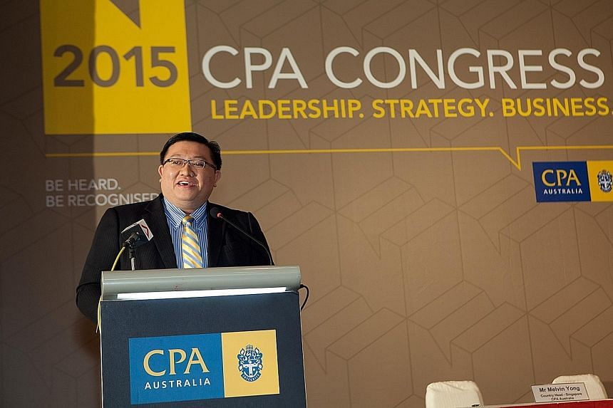 Mr Kenneth Yap, CEO of the Accounting and Corporate Regulatory Authority (Acra), at yesterday's CPA Congress. Acra says the Audit Quality Indicators Disclosure Framework, which is voluntary, will raise the quality of audits on financial statements an