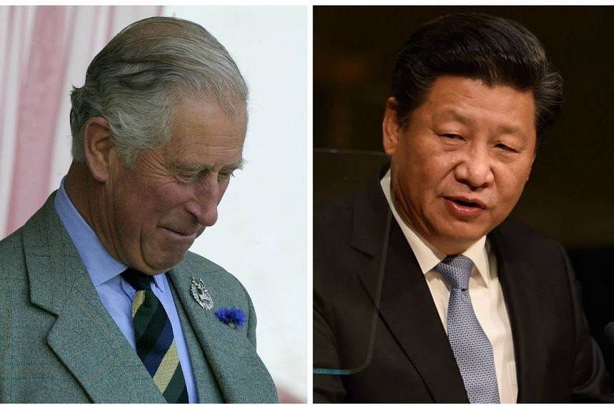 """Prince Charles (left) will hold """"one-to-one talks"""" with President Xi but will not attend the banquet."""