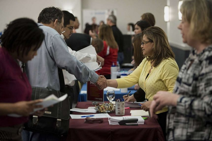 A file picture of job seekers in Texas, U.S. PHOTO: BLOOMBERG
