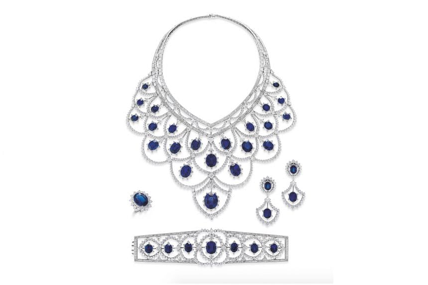 The Americas: Plumes du Paradis diamond and sapphire suite, price unavailable, by American label Mouawad.