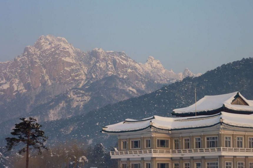 The resort area of Mount Kumgang, North Korea, the venue of the North and South Korean family reunions.