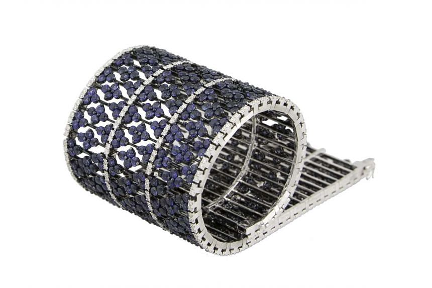Middle East: Sapphire and diamond bracelet, price unavailable, by Arts & Gems.