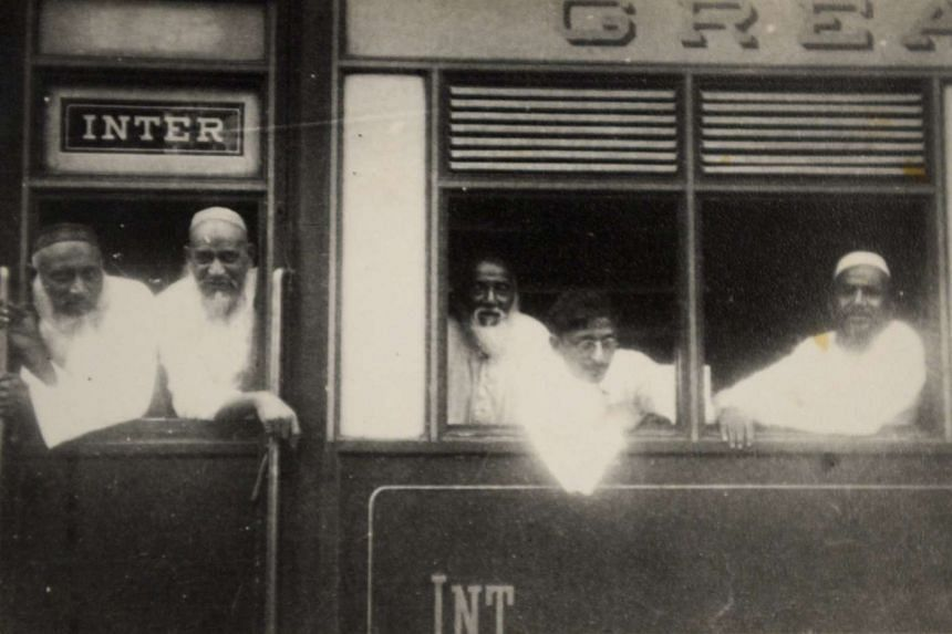 India-based Dawoodi Bohras would take a train like this from Surat to Pondicherry or Madras, after which they would set sail for South-east Asia. At far left is Khaiyumbhai Motiwalla, a relative of Mrs Rosy Nakhooda.