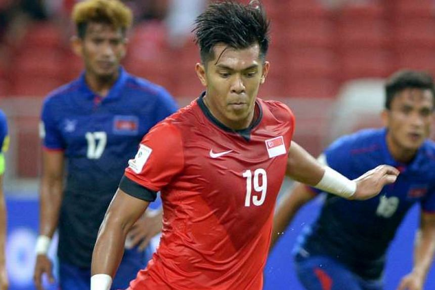 Running up to take a penalty for the Lions against Cambodia on Tuesday, Khairul Amri misses and pulls his right hamstring in the process. It is a stroke of bad luck for the striker, who has scored 15 of his 29 international goals since coach Bernd St