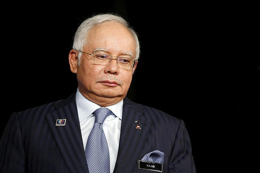 Malaysian PM Najib Razak at the Khazanah Megatrends Forum in Kuala Lumpur last week. He is under pressure from a growing number of establishment figures about his alleged role in a graft scandal at 1MDB.