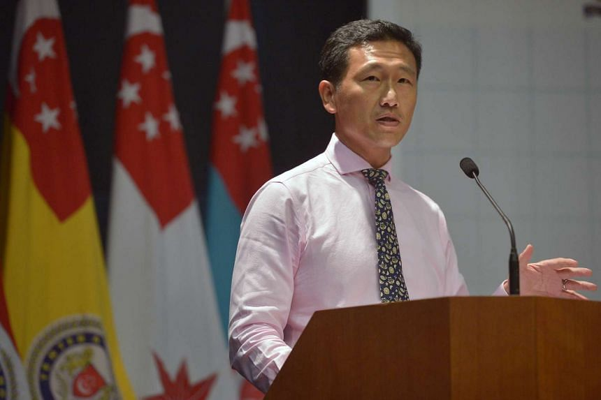 Mr Ong Ye Kung delivers his speech during the launch of National Paramedic Training and Education Roadmap.