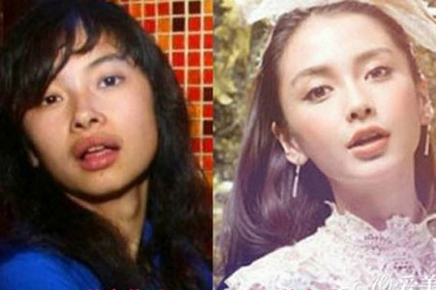 Purported before-and-after photos of Angelababy (above) had been circulating on the Internet.