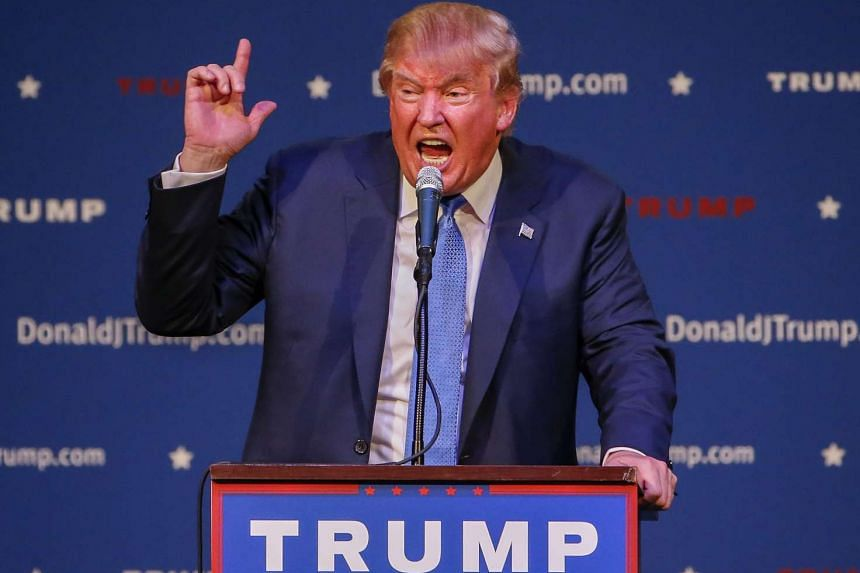 Republican US presidential candidate Donald Trump speaks at a campaign rally in Norcross, Georgia, USA, on Oct 10, 2015.