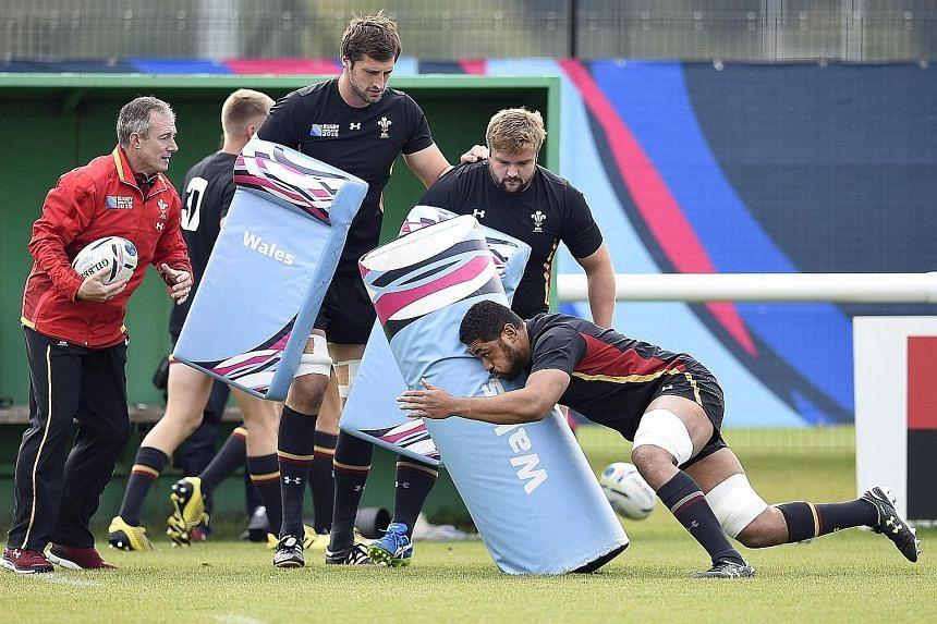 """Wales (seen in training) got through the """"Pool of Death"""" and are in no mood to end their World Cup quest in today's quarter-final against South Africa. Four years ago, they made it to the semi-finals."""