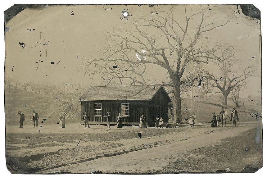 This tintype photograph of Wild West gunslinger Billy the Kid (fourth from left) playing croquet with accomplices from his New Mexico gang has been valued at US$5 million (S$6.9 million).