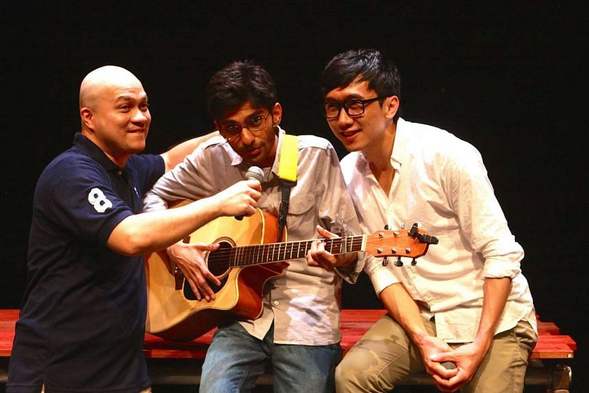 Chemistry between leads (from left) Jamie Shawn Tan, Vignesh Singh and KS Yeo carries the play along.