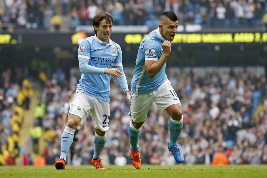 Manchester City's star striker Sergio Aguero (right) and key playmaker David Silva are ruled out of today's clash against Watford with injuries.