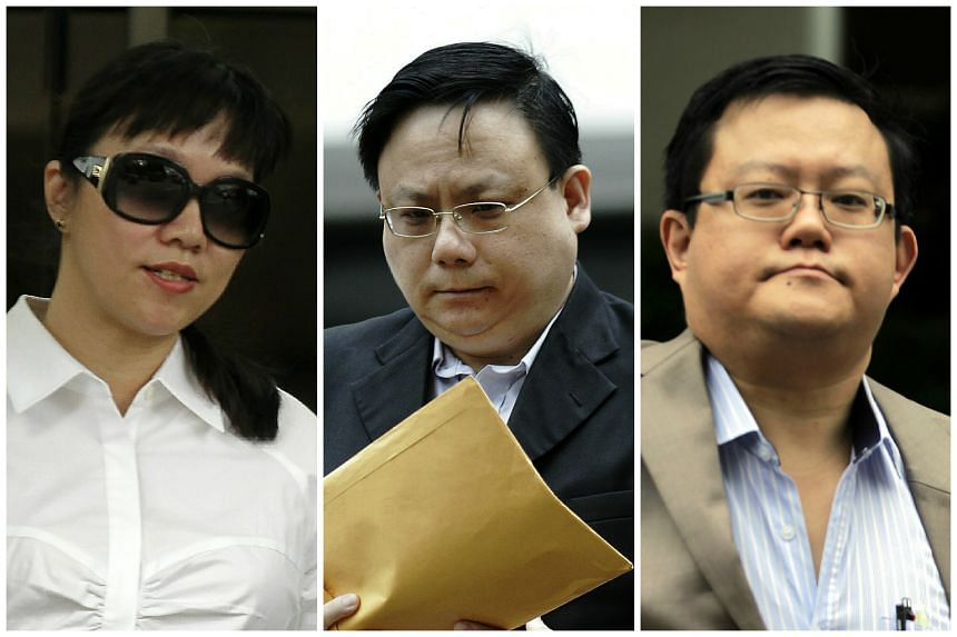 (From left) Drs Gladys Wong, Ng Hor Liang and Roy Chio were fined by the courts for the same offences in 2013.