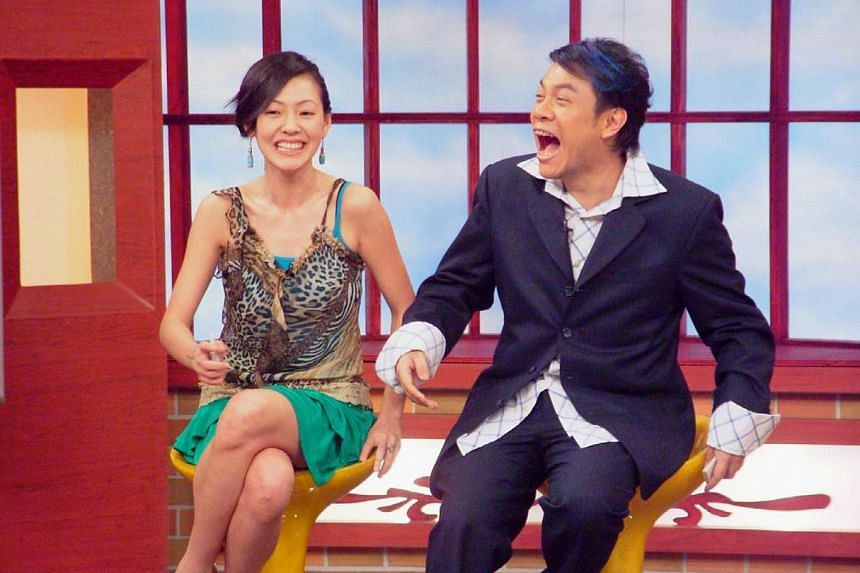 Dee Hsu and Kevin Tsai on an old episode of Mr Con and Ms Csi.