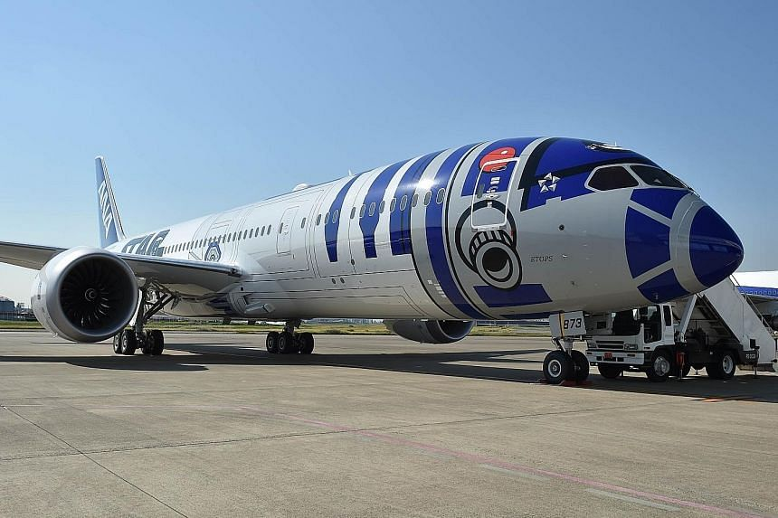 The R2-D2 ANA jet will be in Singapore next month as part of a contest.