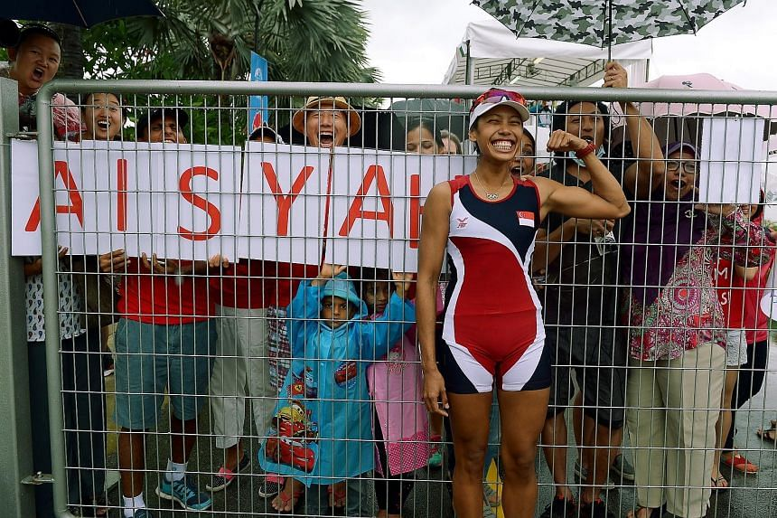 Saiyidah Aisyah, cheered by home fans at the Singapore SEA Games, says she would never forgive herself if she were to quit chasing her dream, even though she is burdened by a lack of financial support.
