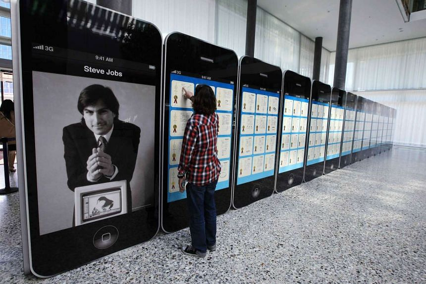 Apple patents on display at the World Intellectual Property Organisation headquarters in Geneva. The court ruled that Apple chips used in some of its mobile devices incorporated technology patented in 1998.