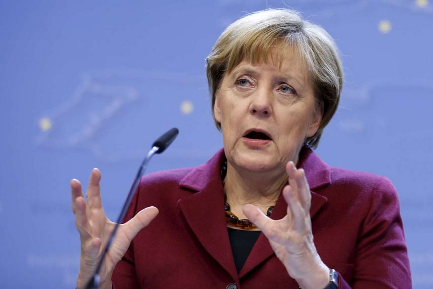 Germany's Chancellor Angela Merkel addresses a news conference after an European Union leaders summit in Brussels, Belgium, on Oct 16, 2015.