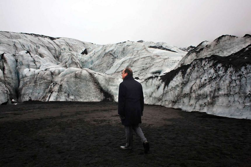 France's President Francois Hollande is in Iceland to experience firsthand the damage caused by global warming, ahead of major UN talks on climate change in Paris this year.