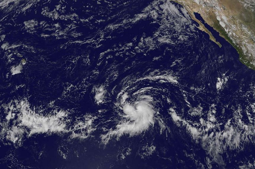 A Nasa image showing Tropical Storm Olaf as it heads towards the central Pacific, on Oct 18, 2015.