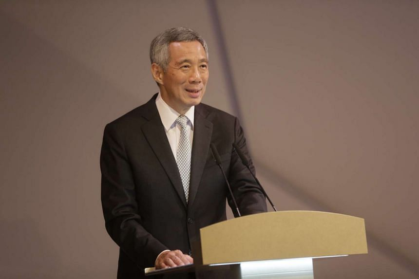 Prime Minister Lee Hsien Loong speaks at the opening ceremony for Fusionopolis Two on Oct 19, 2015.
