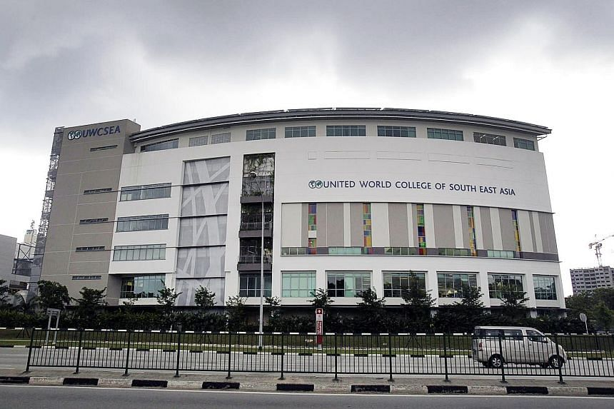 The United World College of South East Asia campus in Tampines has seen student numbers increase from more than 2,200 in 2013 to 2,500 in August this year.