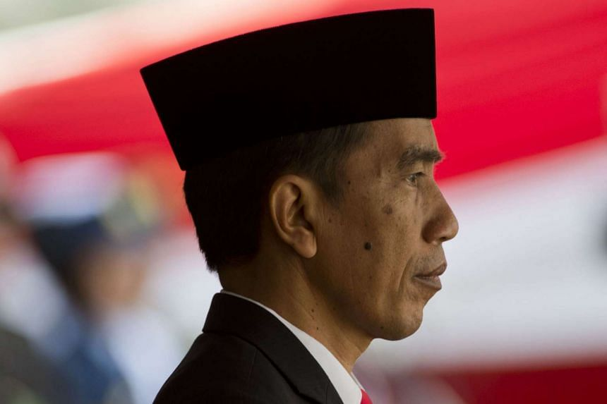 Indonesian President Joko Widodo attending celebrations marking Indonesia's 70th independence anniversary at the presidential palace in Jakarta on Aug 17, 2015.