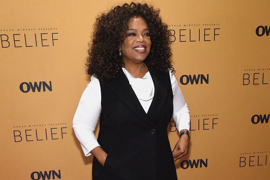 Oprah Winfrey at the Belief New York premiere.