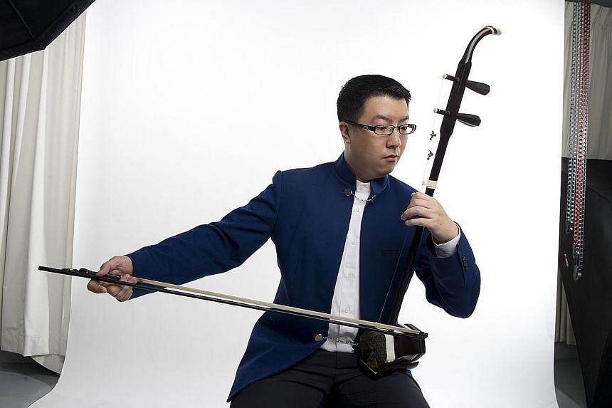 Erhu player Chin Yen Choong (left) will be performing at the Ding Yi Chinese Chamber Music Festival.