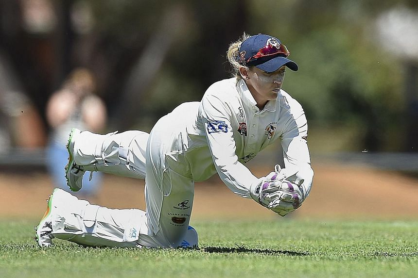 England international wicket-keeper Sarah Taylor, 26, is the first woman to play men's grade cricket in Australia.