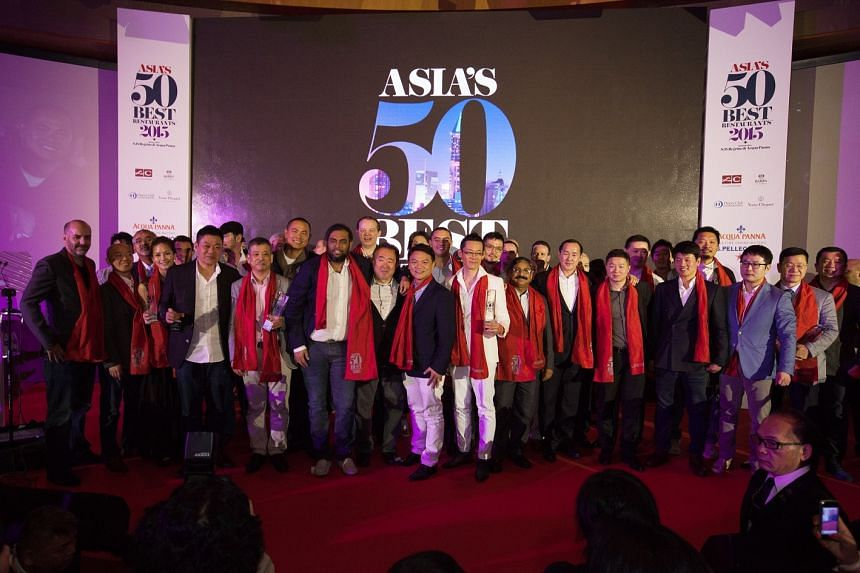 Chefs at a discussion held at the Asia's 50 Best Restaurants 2015 Summit.
