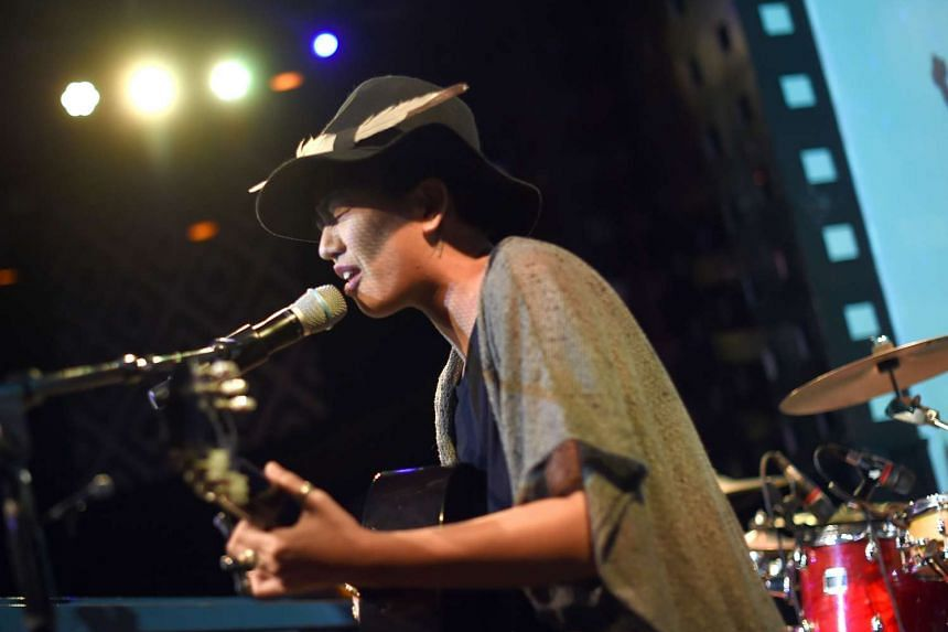 Taiwanese American songwriter, Treya performs at SOB's - Sounds of Brazil in New York last week during the 5th annual CMJ Taiwan Beats Music Showcase.