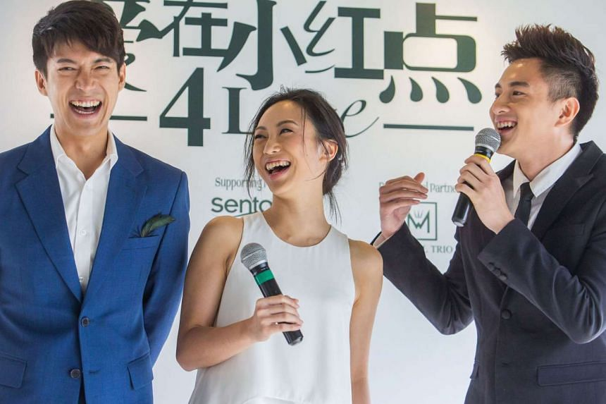 From left: Louis Wu, Oon Shu An and Shane Pow will act in director Sam Loh's segment about a rocky marriage.