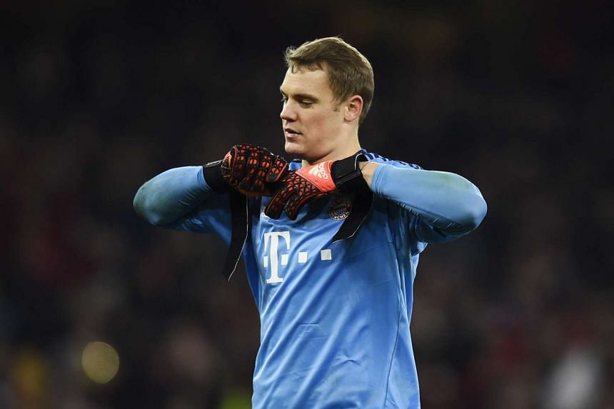 Bayern Munich's Manuel Neuer at the end of the match  Reuters / Dylan Martinez.
