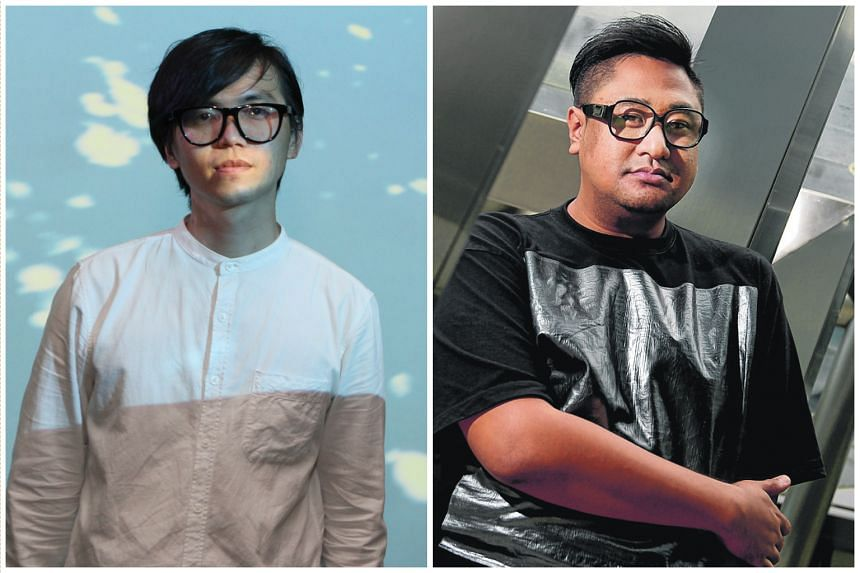 Local artists Ong Kian Peng (Left) and Ezzam Rahman, both winners of the Singapore Art Museum's President's Young Talents Award.