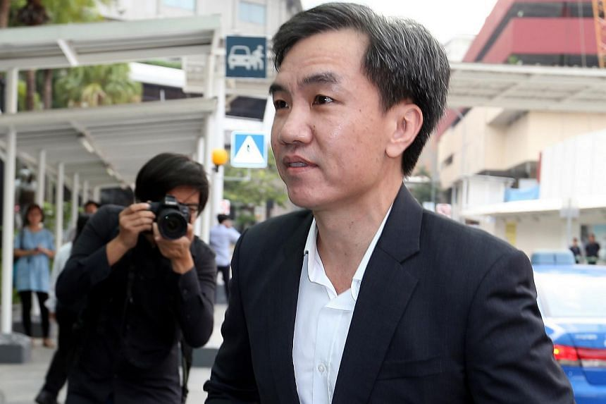 Former CHC finance committee member John Lam arriving at the State Courts.
