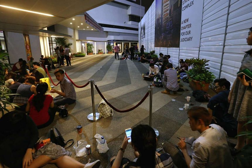 About 130 supporters of City Harvest Church began gathering outside the State Courts as early as 5.30am this morning, as the verdict of the long-running trial involving the church's six leaders is expected to be delivered.