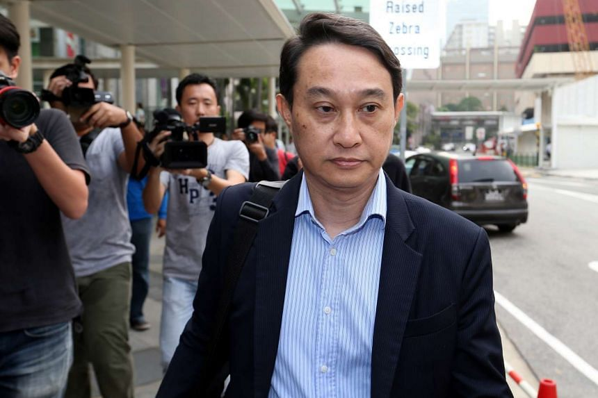 Former CHC fund manager Chew Eng Han arriving at the State Courts.