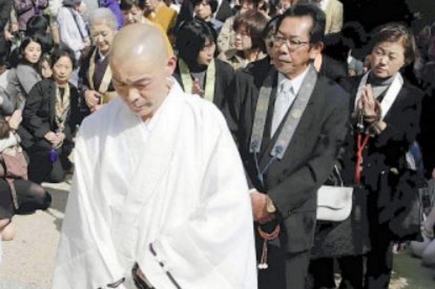 Japanese monk Kogen Kamahori, before beginning his epic nine-day fast from food, water and sleep, on Oct 13, 2015.