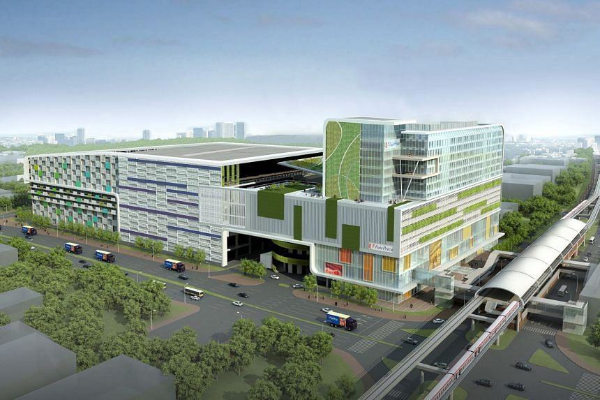 An artist's impression of the Joo Koon integrated transport hub in Jurong.