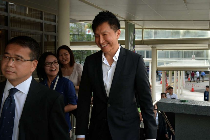 City Harvest Church founder Kong Hee at the State Courts on Aug 11, 2014.