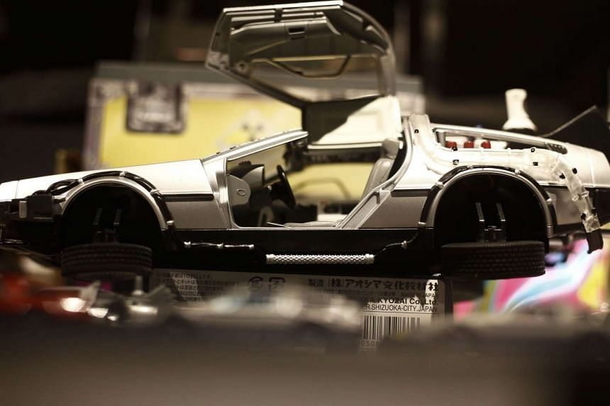 Miniature toys are displayed during a celebration event of the 30th anniversary of the movie Back to the Future in Sao Paulo, Brazil last week.
